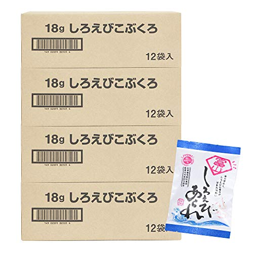 米蔵 あられ(しろえびこぶくろ12袋) 国産もち米使用 富山 丸米製菓 (4箱)