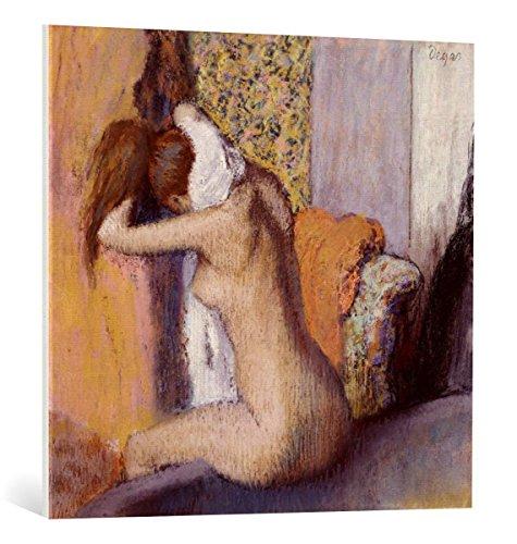 "Kunst für Alle Cuadro en Lienzo: Edgar Degas After The Bath Woman Drying Her Neck 1898"" - Impresión artística, Lienzo en Bastidor, 85x80 cm"