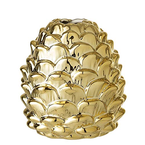 Bloomingville Vase, Gold, Porcelain Ø8xH9 cm