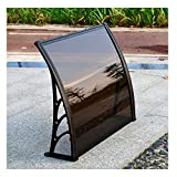 ZHANGXY Door Canopies Porch Awning Rain Shelter Bracket Reinforcement Polycarbonate Sheet Light Transmittance 50% Rainproof Front Door Outdoor Cover Door Window Window Patio,Black-200×60cm