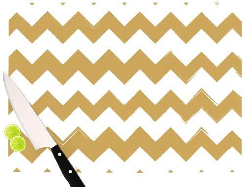 Kess InHouse KESS Original Candy Cane Red Chevron Cutting Board, 11.5 by 15.75-Inch