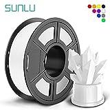 SUNLU PLA+ Filament 1.75mm for 3D Printer & 3D Pens, 1KG (2.2LBS) PLA Plus 3D Printer Filament Tolerance Accuracy +/- 0.02 mm, White