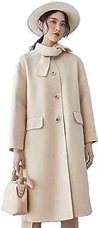 justzzu Winter,Women,Double Faced Woolen Overcoat,Morsang Garden Style,Rabbit Ears Design,Lovely,Younger