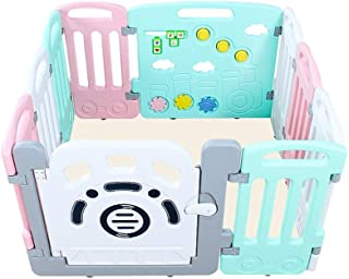 Baby Playpen Baby Playpen  Kids Activity Center Toddler Play Yard Safety Games Fence Indoor And Outdoor Plastic Panel Play Area for Toddlers Baby Playards  Color Style1  Size 10panel