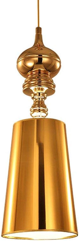 Mpotow Europischen Stil Einfache Kreative Design Kronleuchter Pendelleuchten Moderne Einzigen Kopf Guardian Gold Deckenleuchte Einstellbar Hngelampe für Wohnzimmer Restaurant