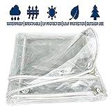 WHAIYAN Transparente Lona Alquitranada Al Aire Libre Pérgola Dosel Aislamiento Resistente A La Intemperie Película De Plástico PVC, 11 Tamaños Personalizable (Color : Clear, Size : 1.0X1.8M)