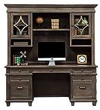 Martin Furniture Credenza And Hutch, Weathered Dove