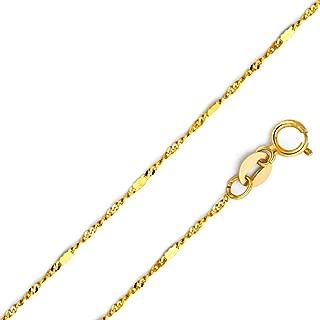 Cadena de oro 333 anclajes cadena 50 cm