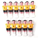 11pcs Muñecos de Plástico Hombres para Mesa De Futbolín de Color Amarillo