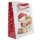 Hallmark Forever Friends-Sacchetto regalo a tema natalizio per regali 'Hooray!', misura grande