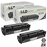 LD Remanufactured Toner Cartridge Replacements for HP 304A CC530A (Black, 2-Pack)