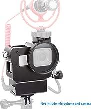 Compatible Gopro mic Adapter-Aluminium Housing Case Protective Frame V2 Multifunctional Vlogging Case Compatible Gopro Hero 7Black 6 5 Action Camera