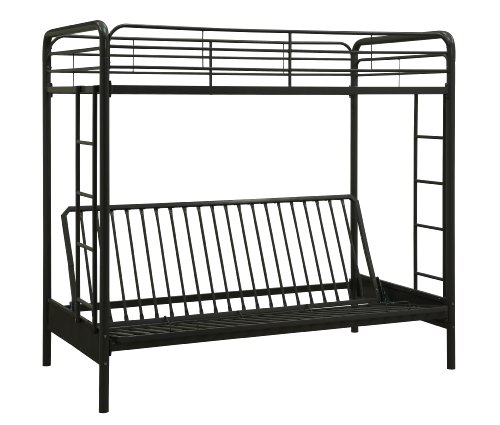Dorel Home Products Twin Over Full Futon Bunk Bed Black Buy Online In Dominica At Dominica Desertcart Com Productid 1178412
