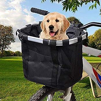 N/D Panier de vélo pliable pour petit animal de compagnie et chat