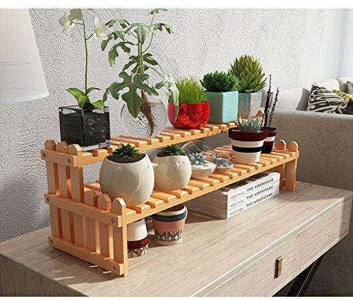 William 337 Support de fleur Support de fleur en bois massif Bureau Bureau Windowsill Mini Multi-couche Fleur Siège Couleur bois (taille : 70cm)