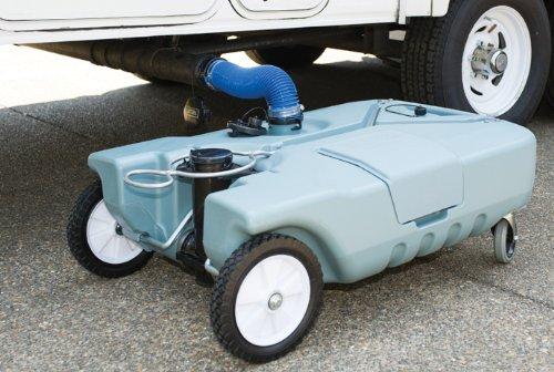 Tote-N-Store 20123 Portable Waste Transport 4 Wheeler, 25 Gallon