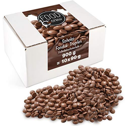 FOOD crew Chocolate Leche Pepitas de Chocolate para Hornear - 900g Chocolate...