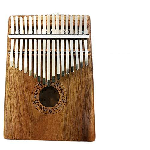 HAIHF Finger Thumb Piano,Thumb Carlin Marimba 17 tone kalimba Single Board kaart lymfatische sturen volledige set van accessoires