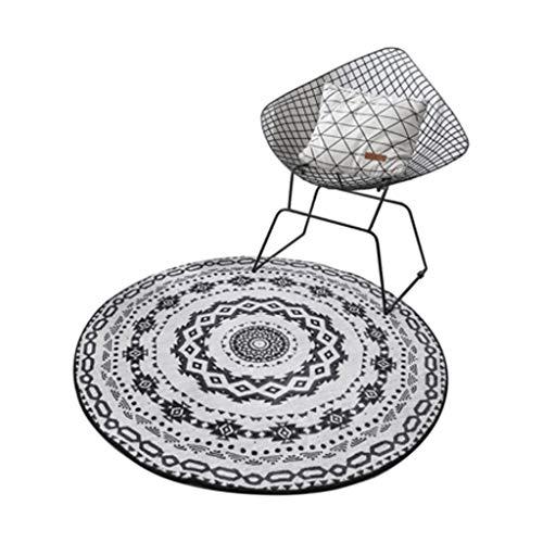 Alfombra redonda suave para el salón, alfombra para el comedor, decoración del hogar, salón