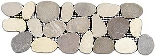 Sliced Java Tan and White Pebble Tile Border 1 piece