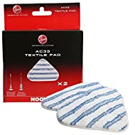 Hoover Genuine AC33 Type Textile Microfiber Steam Mop Pads for Steam Jet Steam Mops - 35601658 Hoover Genuine part number - 35601658 (also referred to as AC33) A pack of 2 premium washable steam mop pads, with secure Velcro fastenings Fits the follow...