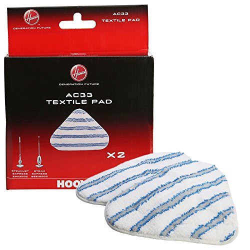 Hoover SteamJet AC33 Type Textile Microfibre Steam Mop Pads-35601658, 1