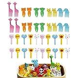 40 Stück Tiernahrungsgabel für Kinder, Kuchengabeln, Dessertgabeln für Kinder, niedliches...