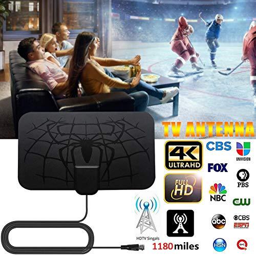 mächtig 1180 Meilen lange 4K digitale HDTV-TV-Antenne, neue Heim-TV-Antenne mit Signalverstärker 2019…