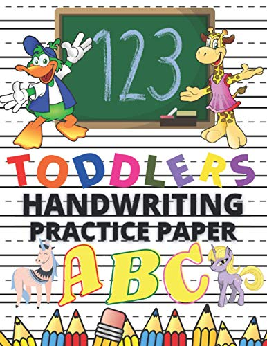 Toddlers Handwriting Composition Notebook With Dotted Lines For Preschool Bambinos To Practice How To Write The Alphabets, Numbers And Characters: ... 1-4 To Improve And Develop Their Penmanship.