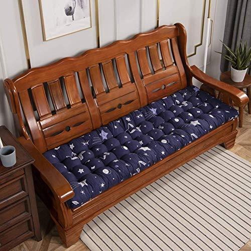 SHDS Cojín de Banco copetudo para Interiores y Exteriores cojín de Columpio Suave Antideslizante Cojín de sofá Grueso Cojín de Mimbre Almohadas para jardín y Patio C 52x52cm