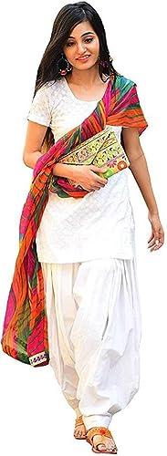 White Chicken Kari Work Dress Material Muilty Colour Dupatta With Pure Cotton Bottom Dress Material
