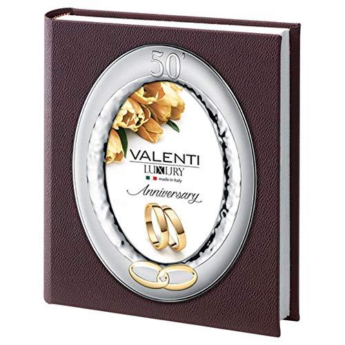 Álbum de fotos 50 Aniversario boda oro fotográfico Tapa ovalada cm 13 x 18 by Valenti Argenti