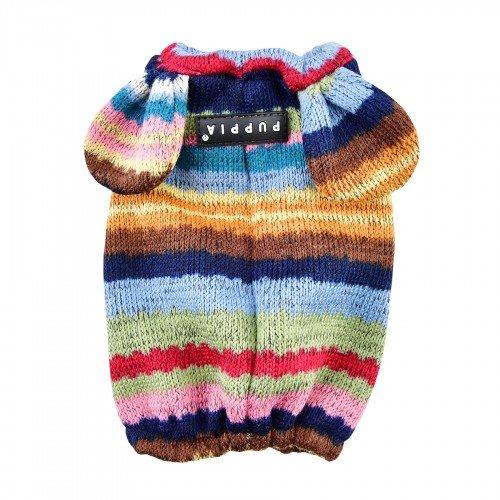 Puppia Paraorecchie Invernale Cane Crayon, S, Marrone