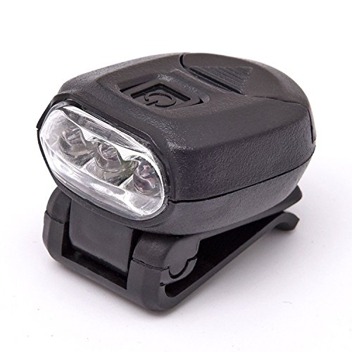 Fishing Cap lampade Freehawk 3fari a LED Hat clip luce notturna a mani libere berretti da baseball 360° girevole 90° regolabile Zoomable per pesca campeggio escursioni 2CR20323V, 3.00V