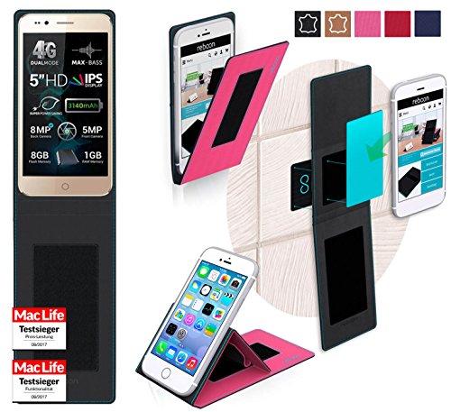 reboon Hülle für Allview P6 Pro Tasche Cover Case Bumper | Pink | Testsieger