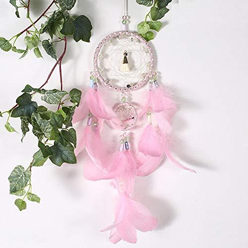 RSZHHL Atrapasueños Pink Beauty 2 Anillo atrapasueños Trampa Colgante Hermosa niñaRosa Belleza Interior atrapasueñosdecoración del hogar Regalo de cumpleaños