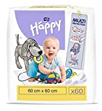 bella baby Happy Wickelunterlagen: Baby Wickelunterlagen für unterwegs 60 x 60 cm im 2er Pack (2 x...