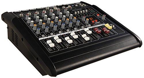 HOLLYWOOD the Starsound - 1500W 8-Kanal Powermixer Mischpult mit Verstärker | PM-28 | perfekt für DJs, Feiern und Bühnenauftritte