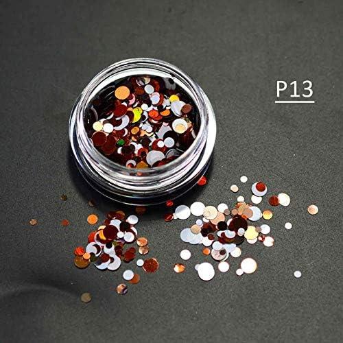 Gabcus 1g Bottle Mixed 1-3mm 3D Nail Round Sparkly Art Mini Memphis Mall Cheap mail order sales Thin