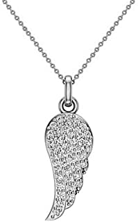 0.86 Ct Created Sapphire /& Simulated Diamond Butterfly Pendant Necklaces 925 Silver