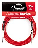 Fender CALIFORNIA CLEARS Cable - Candy Apple Red (rojo) 15Ft. (4.5m)