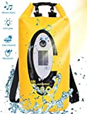 Floating Dry Bag Submersible Waterproof, with Bluetooth Speaker Solar Light - 20L Roll Top Dry Sack Keeps Gear Dry for Men Women Kayaking, Beach, Rafting, Boating, Hiking, Camping and Fishing