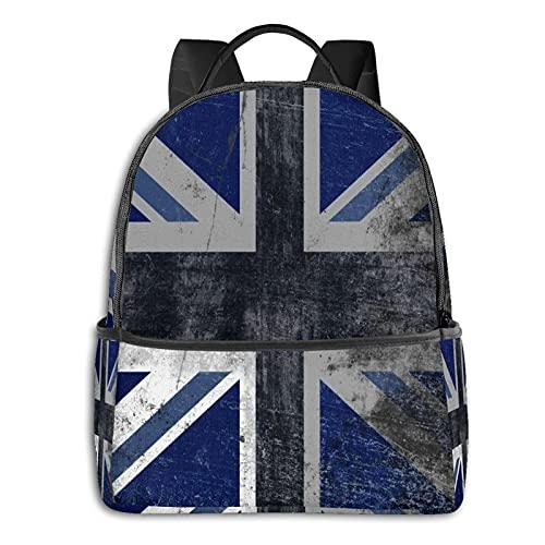 Zaino Casual Bandiera Britannica Viaggio Bookbag Con Cerniera Per Business School Lavoro Computer Portatile Bookbag