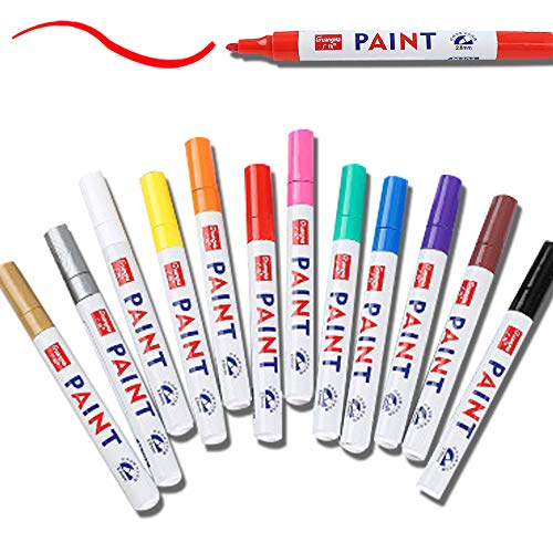 Ruimada Paint Pen-Marker Stift DIY Album Graffiti-Stift Geeignet Für Petroglyphen, Stein, Glas Acrylfarbe Stift 12 Farben (Set Von 12)