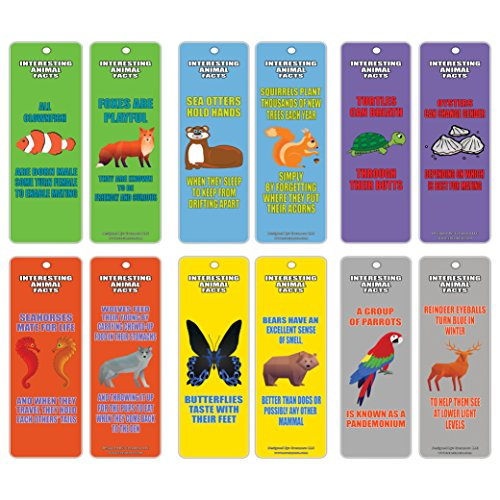 Bookmarks for Kids (30-Pack)- Fun Learning About Animals Series 2 – Animal Facts Book Clipper Cards – Fun Reading Time Collection for Boys, Girls, Teens, Kids, Young Reader – Wall Décor