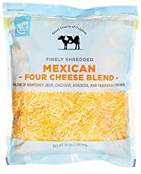 Amazon Brand - Happy Belly Shredded Mexican Four Cheese Blend, 32 Ounce