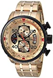 Invicta Men's 17205 AVIATOR 18k Gold Ion-Plated Watch