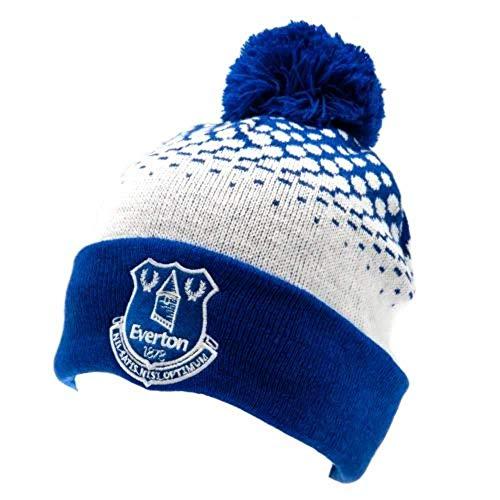 Offizielle Everton FC Adult Bobble Strickmütze