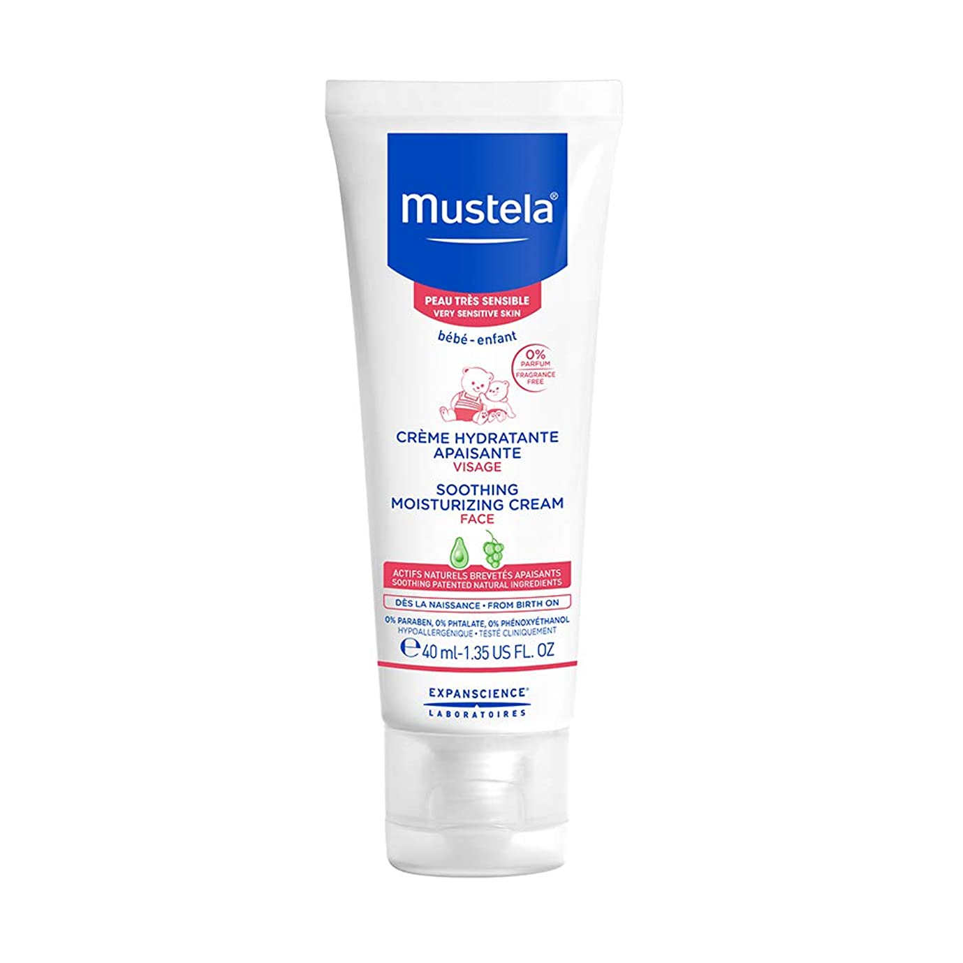 気楽な畝間暗黙Mustela - Soothing Moisturizing Face Cream (1.35 oz.)
