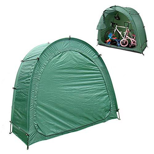 Außenzelt Fahrrad Zelt Heavy Duty Platzsparend Wasserdicht Wetter Lagerung im Freien Mountainbike Shed Zelt Zelt (Color : Army Green)